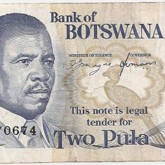 BOTSWANA 2 PULA ND(1982) F - bancnota africa