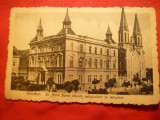 Ilustrata Timisoara  Scoala Primara si Biserica -Notre Dame 1919, Necirculata, Printata