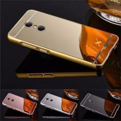 Husa / Bumper aluminiu + spate acril oglinda pentru Lenovo K6 Note - Bumper Telefon