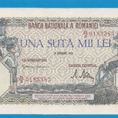 100000 lei 1946 20 decembrie 33 aUNC - Bancnota romaneasca