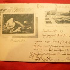 Ilustrata 1899 -Carte Postala Speciala - Muzeul Dresda - Pictura circ.la Orsova, Circulata, Printata
