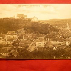 Ilustrata Sighisoara inc.sec.XX - Carte Postala Transilvania 1904-1918, Necirculata, Printata