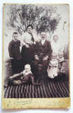 Fotografie veche, 1903, Emil Bernard Fotograf, Temesvar Timisoara, familie, Alb-Negru, Portrete, Romania 1900 - 1950