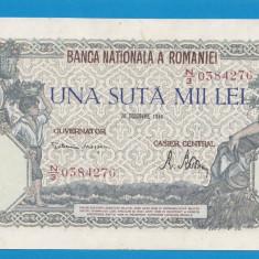 100000 lei 1946 20 decembrie 25 aUNC - Bancnota romaneasca