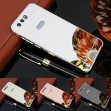 Cumpara ieftin Husa / Bumper aluminiu + spate acril oglinda pentru Huawei Honor 9