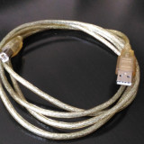 Cablu USB 2.0 - transparent - 1,8m