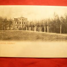 Ilustrata clasica Lacu Sarat - Gradina inc.sec.XX, Ed.Feld Braila -are pliu - Carte Postala Moldova pana la 1904, Necirculata, Printata