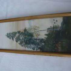 Frumoasa acuarela - anii 1950 - Pictor strain, Peisaje, Realism