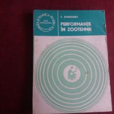 C BORDEIANU - PERFORMANTE IN ZOOTEHNIE - Carti Zootehnie