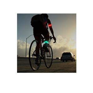 Banda luminoasa cu LED de semnalizare pentru siguranta in trafic a biciclistilor