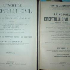Dimitrie Alexandresco principiile dreptului civil roman patru volume - Carte Drept civil