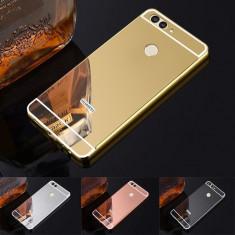 Husa / Bumper aluminiu + spate acril oglinda pentru  Huawei nova 2 plus