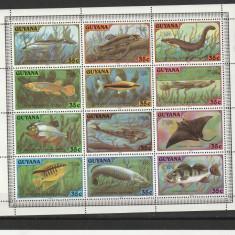 Fauna pesti Guyana. - Timbre straine, Nestampilat