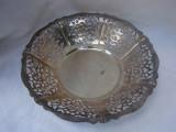 Fructiera din alama argintata poansonata corespunzator, Fructiere