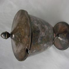 Cupa cu capac din alama argintata marcata Prima NS, Ornamentale