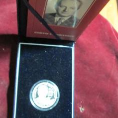 Uncie argint BNR- 10 LEI 2008 - Costin C. Kiriţescu - 100 de ani de la naştere - Moneda Romania