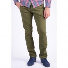 Pantaloni Bumbac Jack&Jones Hugh Troy Kaki - Pantaloni barbati, Marime: 33, Culoare: Khaki