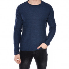 Pulover Barbati Jack&Jones Jorabe Knit Crew Neck Total Eclipse / Dark Denim
