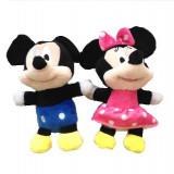 Set Mickey si Minnie plus 18cm albastru cu roz - Jucarii plus
