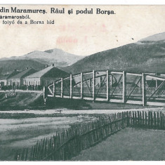 1523 - Maramures, BORSA, Bridge & River - old postcard - used - 1927 - Carte Postala Maramures dupa 1918, Circulata, Printata