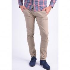 Pantaloni Bumbac Selected Shhone Luca Bej - Pantaloni barbati, Marime: 32, 34, 36, Culoare: Maro