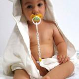 Prosop pufos din fibra de BAMBUS pt bebelusi si copii pana la 6 ani - Prosop baie copii Altele, Alb