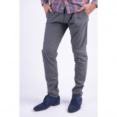 Pantaloni Bumbac Selected Three Paris Chino Gri - Pantaloni barbati, Marime: 30, 31, 34