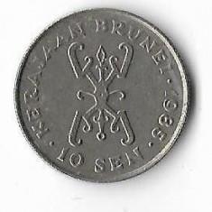 Moneda 10 sen 1985 - Brunei, Africa