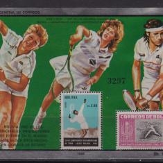 Bolivia 1986 sport tenis MI bl.159 MNH w46 - Timbre straine, Nestampilat
