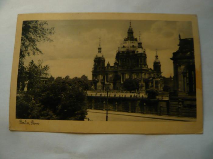 Ilustrata 1935 Domul Berlin ,stampila Expozitia Radio Germania