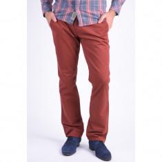 Pantaloni Bumbac Selected Three Paris Chino Rosu - Pantaloni barbati, Marime: 31, 34