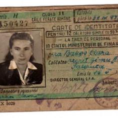CFR 1948 CLASA II 50% RED CARTE DE IDENTITATE IN CONTUL MINISTERULUI DE FINANTE