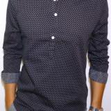 Camasa bleumarin cu buline - camasa slim fit camasa bumbac camasa barbat cod 149 - Camasa barbati, Marime: S, M, L, XL, Culoare: Din imagine, Maneca lunga