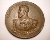 Medalie Regele Carol I Monumentul Eroilor de la Tulcea Dobrogenii Recunoscatori