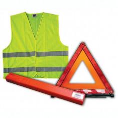 Pachet vesta si triunghi reflectorizant cod 44024 / 44025 - Trusa auto prim ajutor