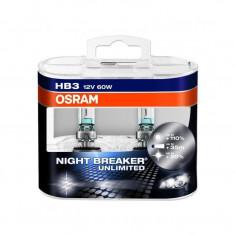 Bec Osram HB3 Night Breaker Unlimited (+110 lumina) 12V 60W cod 9005NBU / 9005NBUHCB