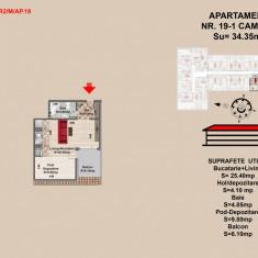 Garsoniera 1 camera - Garsoniera de vanzare, 44 mp, An constructie: 2017, Mansarda