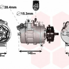 Compresor aer conditionat / clima NOU VW Phaeton 04.02 -> ITN cod 34-AC-107 - Compresoare aer conditionat auto