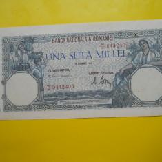 ROMANIA 100000 LEI 1947 - 20 DECEMBRIE 1946 -X FINE - Bancnota romaneasca