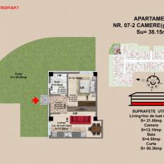 Garsoniera de vazare Brasov, zona Tractorul, 38.15 mp si terasa 80.3 mp - Garsoniera de vanzare, An constructie: 2017, Parter
