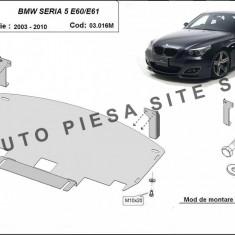 Scut metalic motor BMW Seria 5 E60 / E61 fabricat intre 2003 - 2010 (cu bara pachet M) cod APS-03.016M - Scut motor auto