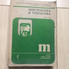 Horticultura si viticultura Manual pentru liceele agroindustriale clasa a XII a
