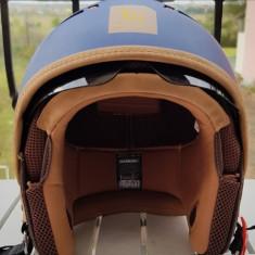 Casca moto/scuter MT Cosmo SV albastru mat (ochelari soare integrati), Marime: M