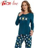 Pijama Dama Maneca/Pantalon Lung, Vienetta, Life Is Better With Cats, Cod 1401 - Pijamale dama, Marime: S, M, L, XL, Culoare: Din imagine