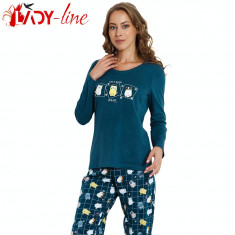 Pijama Dama Maneca/Pantalon Lung, Vienetta , Life Is Better With Cats, Cod 1401