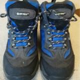 Ghete copii, Hi-Tec Boys' Hillside Hiking Boots pentru iarna si munte, Marime: 35, Culoare: Albastru