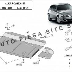 Scut metalic motor Alfa Romeo 147 fabricat intre 2000 - 2010 cod APS-01, 100 - Scut motor auto