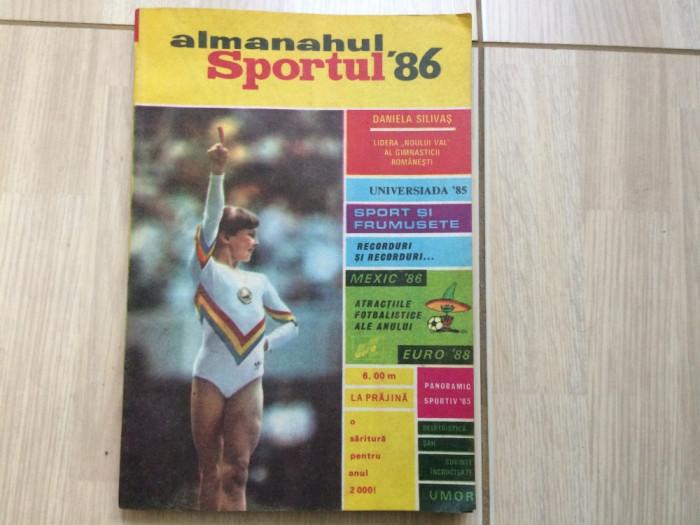 almanahul sportul 1986 almanah sport 86 fan fotbal hobby gimnastica tenis hobby