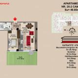 Apartamente 2 camere, Brasov, zona Tractorul - Apartament de vanzare, 50 mp, Numar camere: 2, An constructie: 2017, Parter