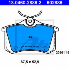 Set placute frana spate Audi TT fabricat in perioada 10.1998 - 06.2006 ATE cod 13.0460- 2886.2